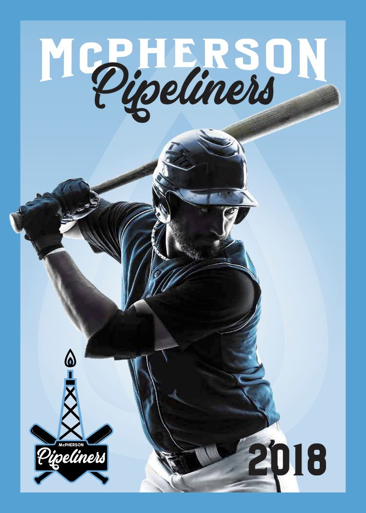 Black graphic of baseball player swinging a bat with a blue background