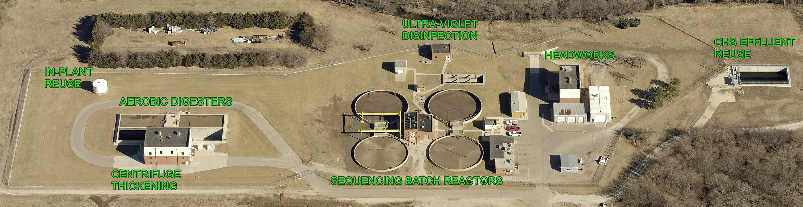 Wastewater Facility Aerial View