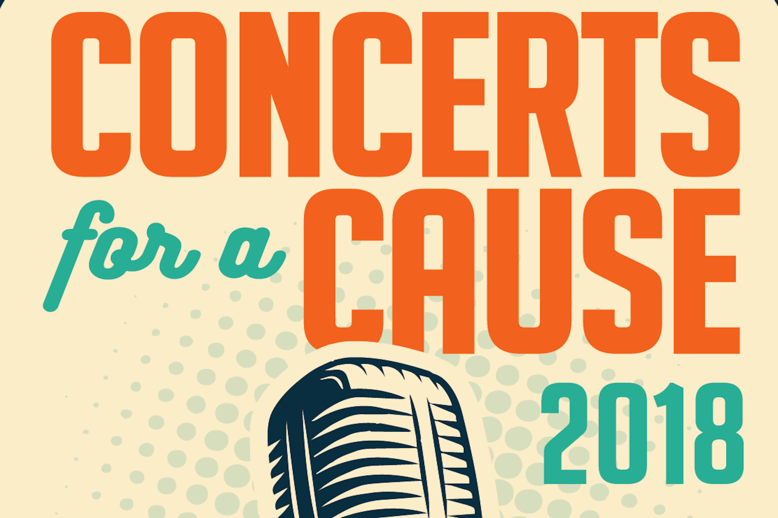 Poster promoting Concerts for a Cause music series