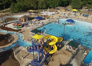 McPherson Water Park pool and slides.